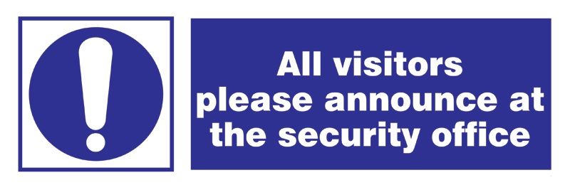 Isps - Visitors Announce At Security